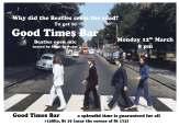 Good Times Bar Beatles open mic monday